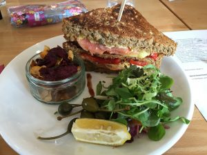 A lunch choice for August Salmon Sandwich