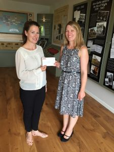 Handing over the latest cheque to Felicity from the Isle of Wight Youth Trust - August 2016